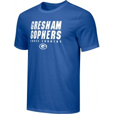 Gresham Cross-Country 16: Adult-Size - Nike Combed Cotton Core Crew T-Shirt - Royal