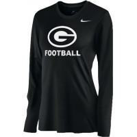 Gresham Football 15: Nike Women's Legend Long-Sleeve Training Top - Black with White G Logo