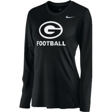 Gresham Football 15: Nike Women's Legend Long-Sleeve Training Top - Black with White G Logo