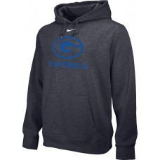 Gresham Football 18: Adult-Size - Nike Team Club Fleece Training Hoodie (Unisex)- Anthracite with Blue G Logo