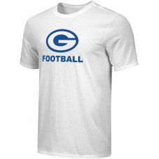 Gresham Football 17: Youth-Size - Nike Combed Cotton Core Crew T-Shirt - White with Blue G Logo