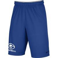 Gresham Football 23: Adult-Size - Nike Team Fly Athletic Shorts - Royal Blue with White G Logo