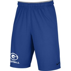 Gresham Football 24: Youth-Size - Nike Team Fly Athletic Shorts - Royal Blue with White G Logo