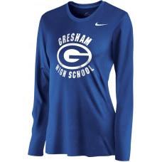 Gresham High School 18: Nike Women's Legend Long-Sleeve Training Top - Royal