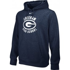 Gresham High School 25: Youth-Size - Nike Team Club Fleece Training Hoodie (Unisex) - Anthracite