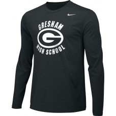 Gresham High School 20: Youth-Size - Nike Team Legend Long-Sleeve Crew T-Shirt - Black